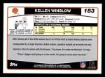 2006 Topps #183  Kellen Winslow  Back Thumbnail