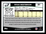 2006 Topps #91  Brian Westbrook  Back Thumbnail