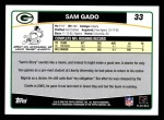 2006 Topps #33  Sam Gado  Back Thumbnail