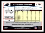 2006 Topps #179  Keyshawn Johnson  Back Thumbnail