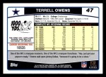 2006 Topps #47  Terrell Owens  Back Thumbnail