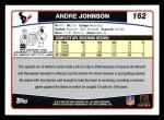 2006 Topps #162  Andre Johnson  Back Thumbnail