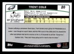 2006 Topps #20  Trent Cole  Back Thumbnail