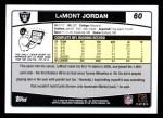 2006 Topps #60  LaMont Jordan  Back Thumbnail