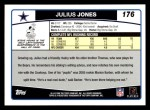 2006 Topps #176  Julius Jones  Back Thumbnail
