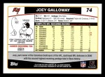 2006 Topps #74  Joey Galloway  Back Thumbnail