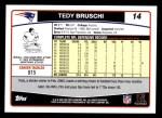 2006 Topps #14  Tedy Bruschi  Back Thumbnail