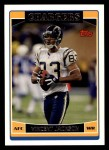 2006 Topps #42  Vincent Jackson  Front Thumbnail