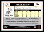 2006 Topps #124  Cedrick Wilson  Back Thumbnail