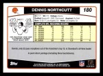 2006 Topps #180  Dennis Northcutt  Back Thumbnail