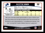 2006 Topps #32  Scottie Vines  Back Thumbnail