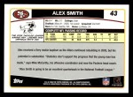 2006 Topps #43  Alex Smith  Back Thumbnail