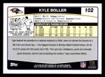 2006 Topps #102  Kyle Boller  Back Thumbnail