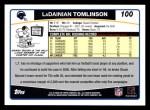 2006 Topps #100  LaDainian Tomlinson  Back Thumbnail