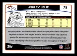 2006 Topps #79  Ashley Lelie  Back Thumbnail
