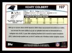 2006 Topps #107  Keary Colbert  Back Thumbnail