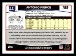 2006 Topps #189  Antonio Pierce  Back Thumbnail