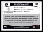 2006 Topps #185  Robert Gallery  Back Thumbnail