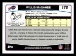 2006 Topps #178  Willis McGahee  Back Thumbnail