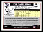 2006 Topps #121  Kyle Vanden Bosch  Back Thumbnail