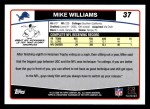 2006 Topps #37  Mike Williams  Back Thumbnail