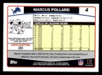 2006 Topps #4  Marcus Pollard  Back Thumbnail