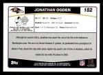 2006 Topps #182  Jonathan Ogden  Back Thumbnail