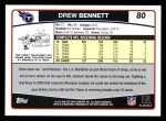 2006 Topps #80  Drew Bennett  Back Thumbnail