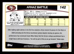2006 Topps #142  Arnaz Battle  Back Thumbnail