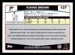 2006 Topps #137  Ronnie Brown  Back Thumbnail