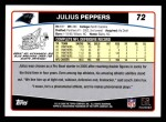 2006 Topps #72  Julius Peppers  Back Thumbnail