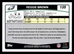 2006 Topps #135  Reggie Brown  Back Thumbnail