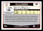 2006 Topps #29  Willie Parker  Back Thumbnail
