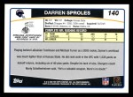 2006 Topps #140  Darren Sproles  Back Thumbnail