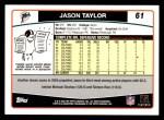 2006 Topps #61  Jason Taylor  Back Thumbnail