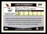 2006 Topps #258  Larry Fitzgerald  Back Thumbnail