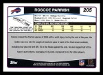 2006 Topps #205  Roscoe Parrish  Back Thumbnail