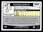 2006 Topps #333  Brodrick Bunkley  Back Thumbnail