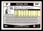 2006 Topps #208  Michael Vick  Back Thumbnail