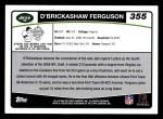 2006 Topps #355  D'Brickashaw Ferguson  Back Thumbnail