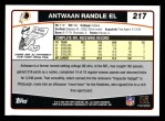 2006 Topps #217  Antwaan Randle El  Back Thumbnail