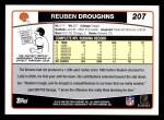 2006 Topps #207  Reuben Droughns  Back Thumbnail