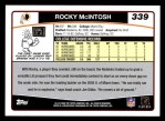 2006 Topps #339  Rocky McIntosh  Back Thumbnail