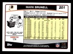 2006 Topps #201  Mark Brunell  Back Thumbnail