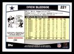 2006 Topps #221  Drew Bledsoe  Back Thumbnail