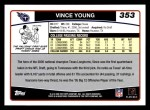 2006 Topps #353  Vince Young  Back Thumbnail