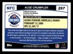 2006 Topps #297   -  Alge Crumpler All-Pro Back Thumbnail