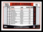 2006 Topps #286   -  Brett Favre League Leaders Back Thumbnail