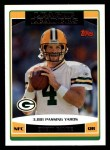 2006 Topps #286   -  Brett Favre League Leaders Front Thumbnail