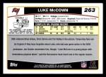 2006 Topps #263  Luke McCown  Back Thumbnail
